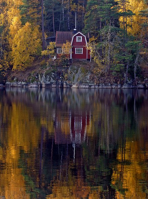 Sweden - Little islands in the Swedish Archepelego dotted with these little red or yellow houses and barns