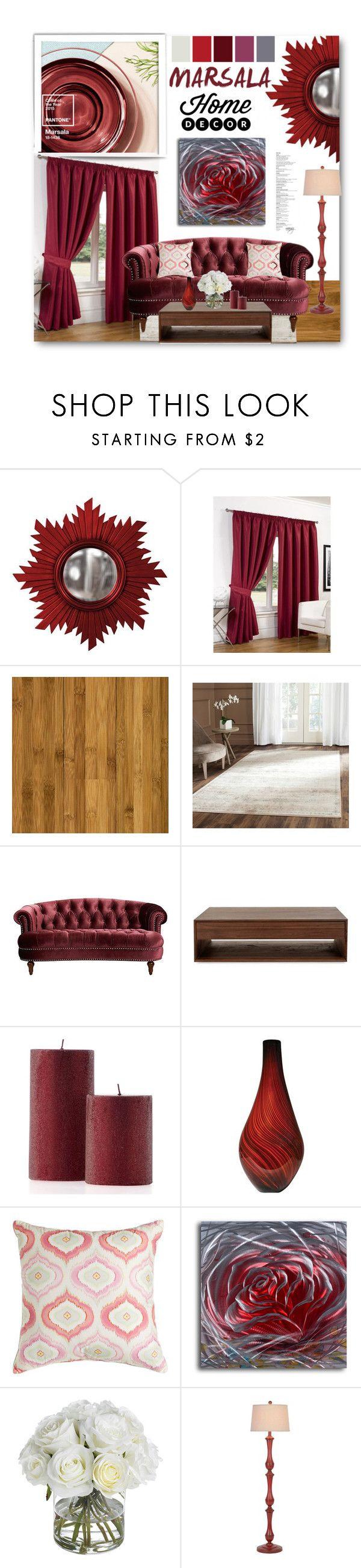 """Marsala Home"" by nansg on Polyvore featuring interior, interiors, interior design, home, home decor, interior decorating, Home Decorators Collection, Safavieh, Dena Home and Diane James"