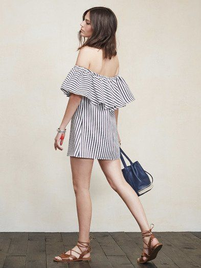 We're not sure how much PTO you have, but you should probably take a vacation and take this dress with you. It's great for out of office activities but really you can wear it anywhere. The Nashville Dress is an off-the-shoulder mini dress with a ruffled stretch neckline (so you can show off your shoulders and still move around). The fit is loose and the fabric is a medium weight textured woven. Made from surplus polyester blend.