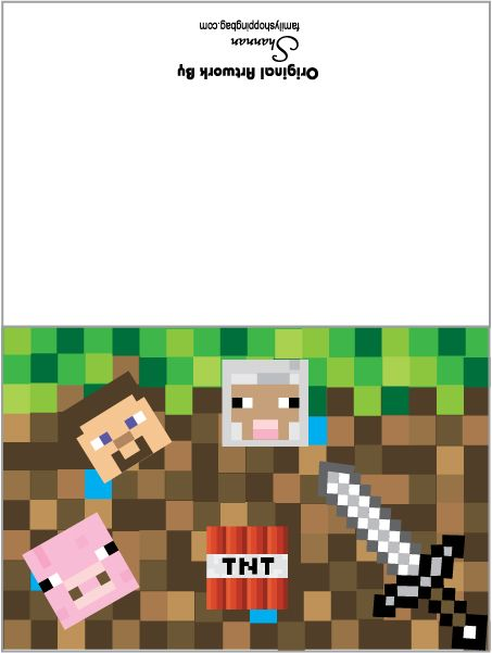 27 Best Minecraft Party And Fun Images On Pinterest | Minecraft