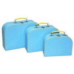 Alimrose Kids Carry Case Set 3pcs - Blue/Yellow