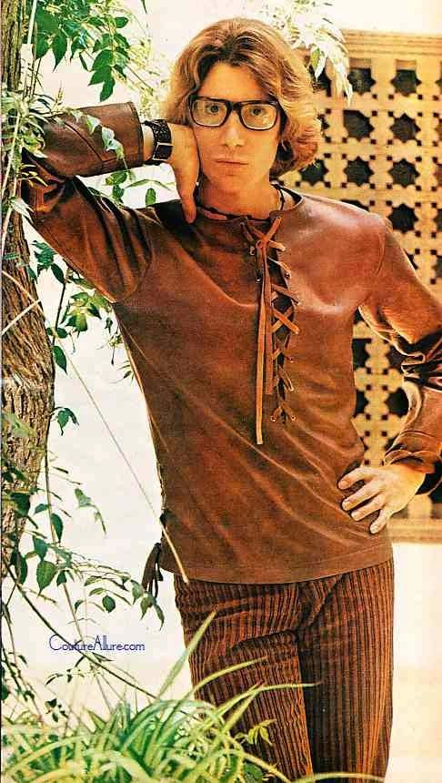 Couture Allure Vintage Fashion: Yves St Laurent Models His First Men's Collection - 1969