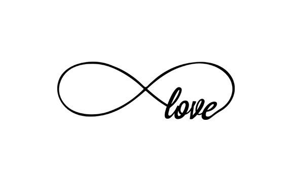 "Infinity sign with ""love"""
