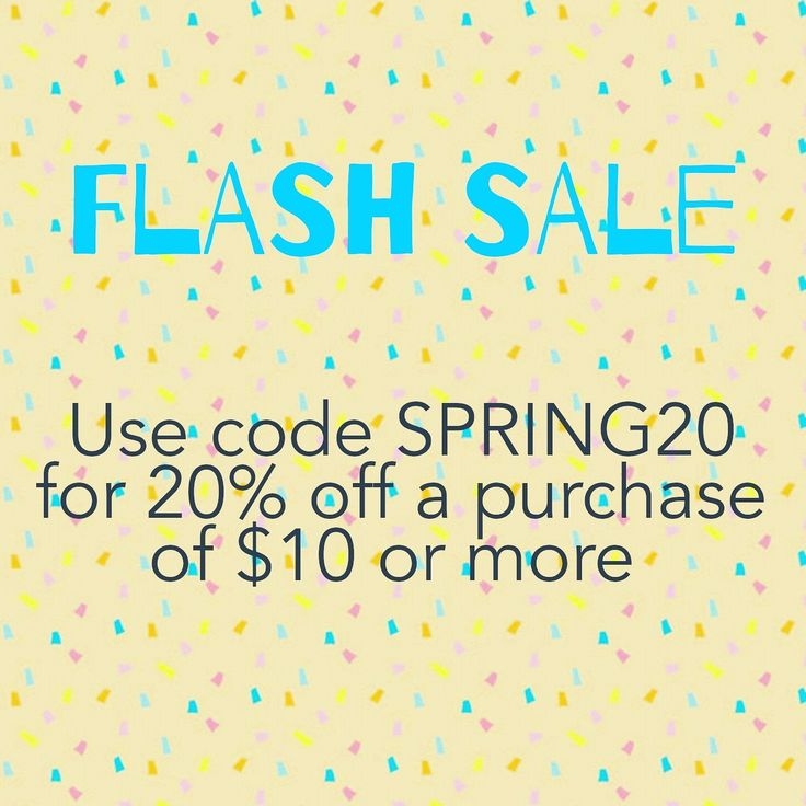 FLASH SALE !! Use code SPRING20 from now until Wednesday to receive 20% off a purchase of $10 or more!   Be sure to follow the shop on Instagram too for more updates, new items and upcoming sales!  Xo