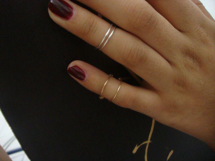 ♣ Cuff Ring / Slim ♣ Diseño: ajustable, por pares Colores: Dorado, Plata Material: Tumbaga, Baño de Plata, Plata de ley  By Spazio Vintage Aguascalientes