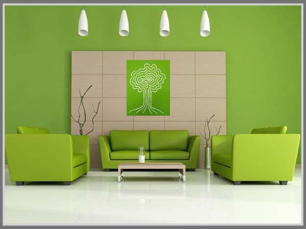 Looks cool, light, and spacious, green and white creates a serenity for minimalist modern home living room interior design. Read more on: http://edupaint.com/interior/ruang-keluarga/9992-biru-dan-hijau-pas-di-ruang-keluarga-minimalis.html #HiyotoIdea #homedesign #homedecor #housedesign #housedecor #interiordesign #livingroom #colorcombination