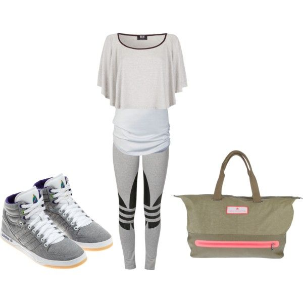 A fashion look from October 2013 featuring adidas Originals leggings, adidas pumps y adidas tote bags. Browse and shop related looks.