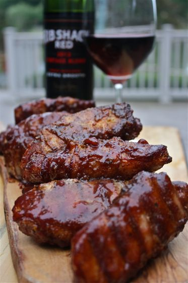 Country style ribs wrapped in bacon and coated with a cherry glaze. | Triple Cherry Ribs Wrapped in Bacon |