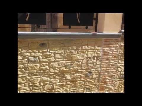 muro stampato come creare finta pietra rustica