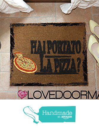 DOORMAT PERSONALIZED DID YOU BRING THE PIZZA ? NATURAL COIR CM. 67x50 DIRT DRY BRUSH LOVEDOORMAT ® HANDMADE IN ITALY from LOVEDOORMAT https://www.amazon.co.uk/dp/B06X16GV9P/ref=hnd_sw_r_pi_dp_Whr.yb2RFD8KY #handmadeatamazon
