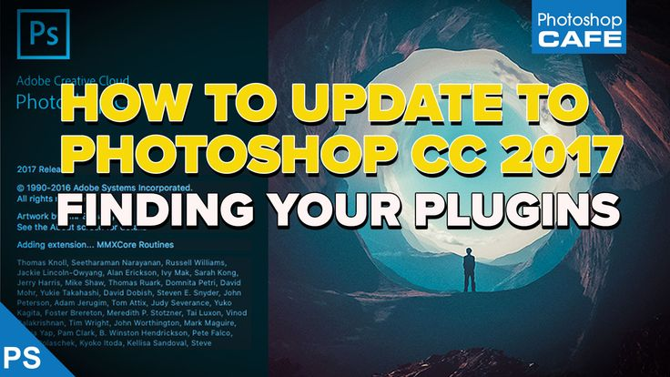 "Photoshop CC 2017 is now available, this quick quide shows you how to update to the latest version. After updating many people say ""Where are my plugins? They are gone. How to I get my plugins back? I'll show you how to copy your plugins over from all your previous versions of Photoshop so that you don't have to reinstall them."