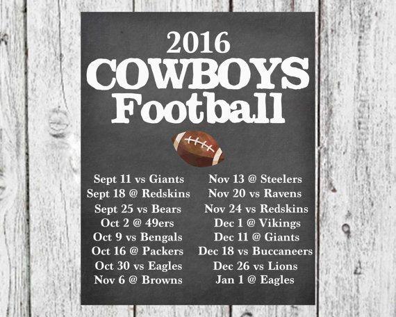 Chalkboard NFL Football Schedule Favorite by Momsareworldchangers
