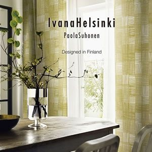 既製カーテンの厚地(ドレープ)カーテンからおしゃれな洗濯のできる遮光カーテンでイヴァナ ヘルシンキ(Ivana Helsinki)のルールッカ(Ruudukko)を販売。