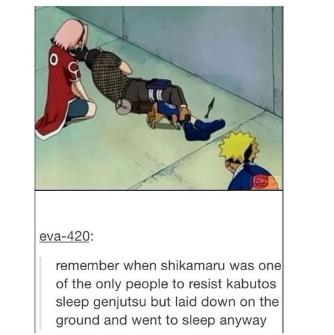 This is why shikamaru is my favorite character