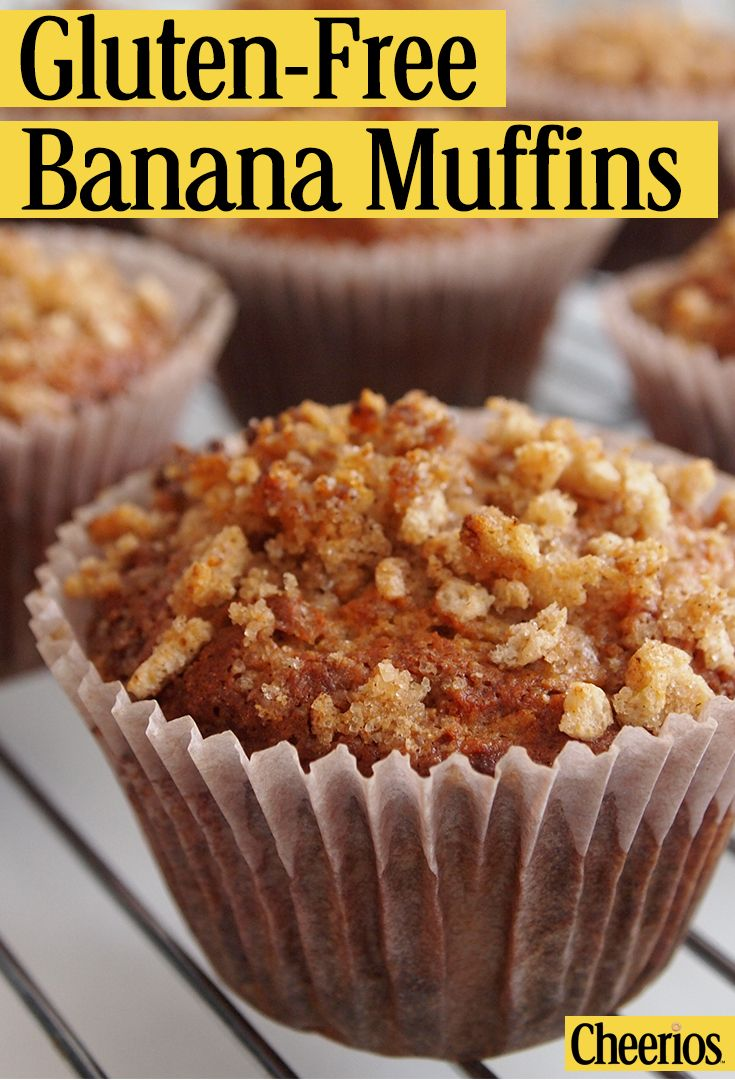 This Cheerios™ Banana Muffins recipe is gluten-free. Perfect for your morning or a pick-me up in your busy schedule.
