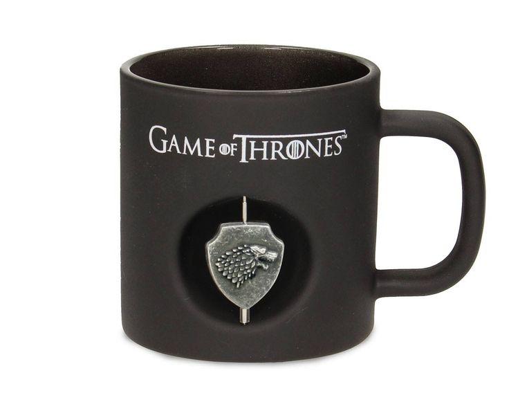 Game of Thrones / Le Trône de fer mug 3D Rotating Logo Stark Black Crystal