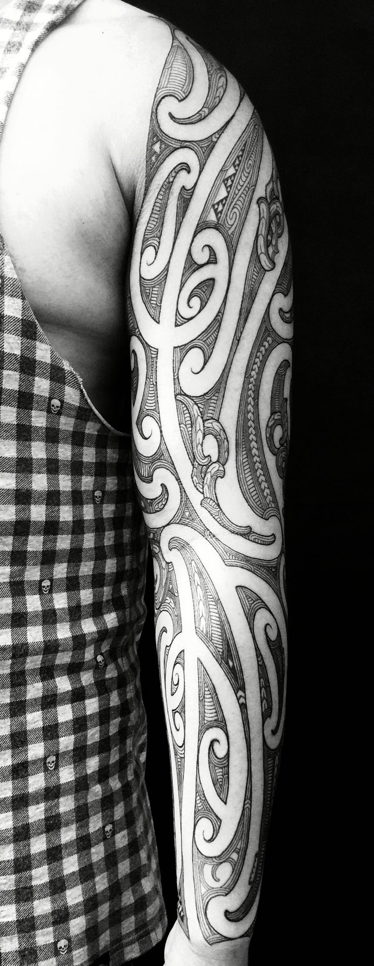 Moko sleeve by Wiremu Barriball