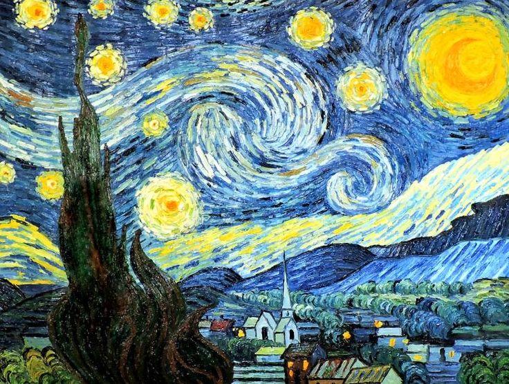 Painting «Starry Night. a copy of Van Gogh» Искусство