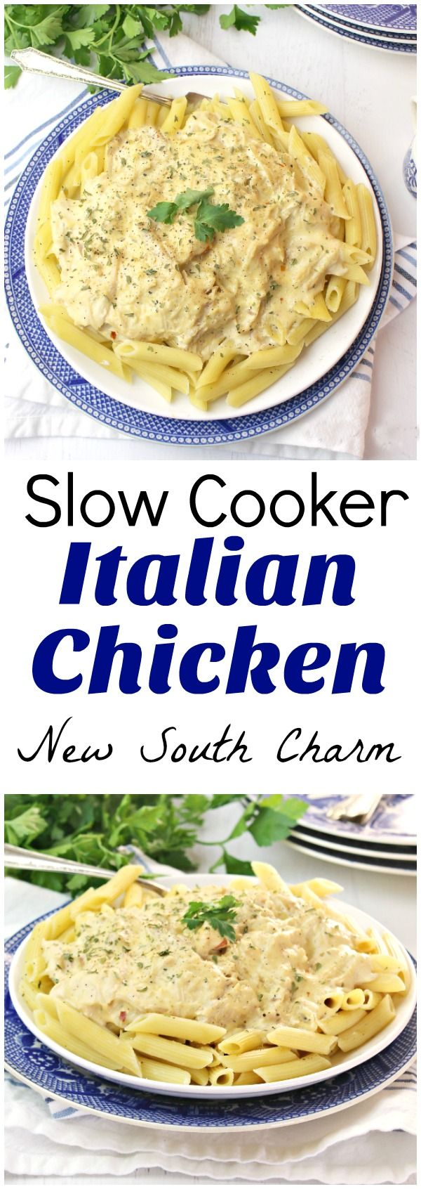 Slow Cooker Italian Chicken is a long time family favorite that takes just a  few minutes of prep to create.