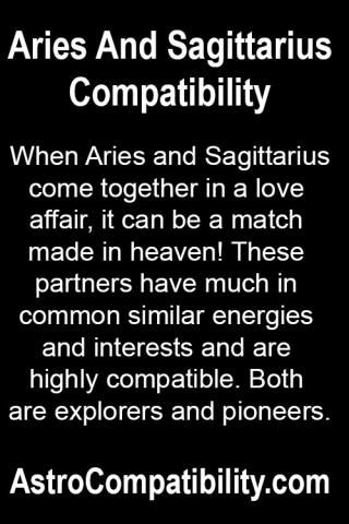When Aries and Sagittarius come together.... | AstroCompatibility.com