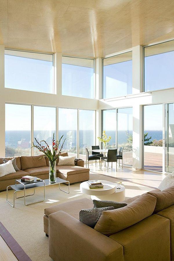 Eco-modern beach house on Cape Cod designed by ZeroEnergy Design