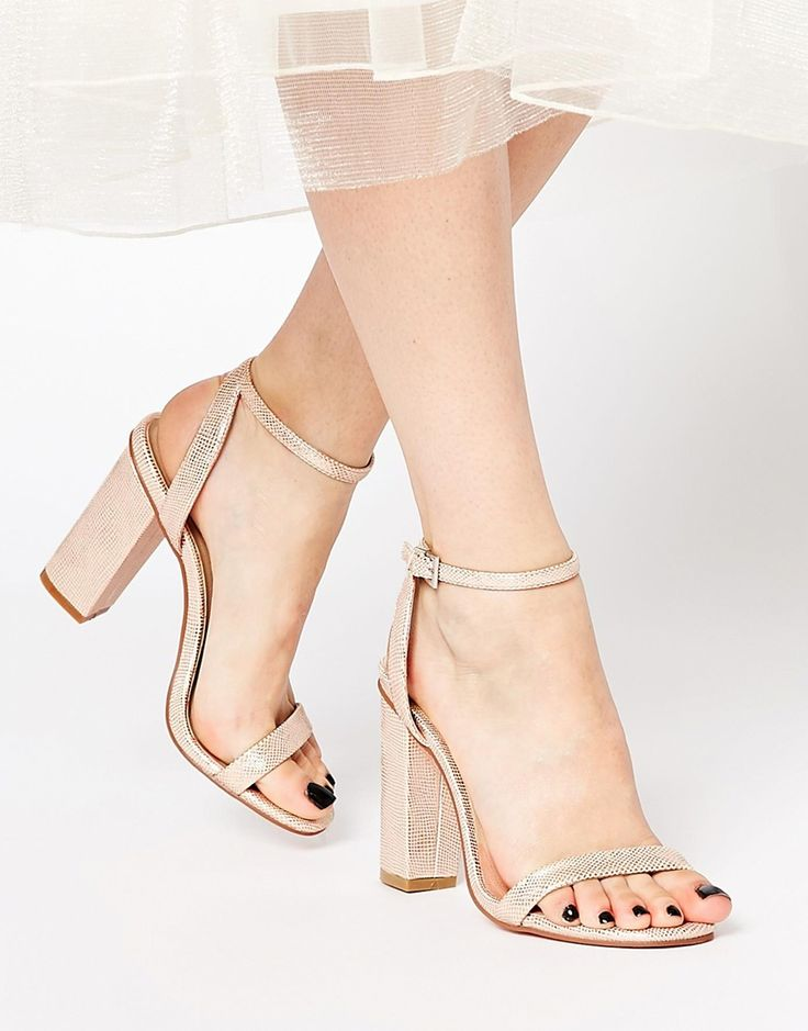 "ASOS ""Hermione Heeled Sandals"" in faux leather, $73; asos.com"
