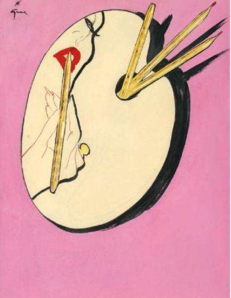 Illustration by René Gruau (1909 - 2004) http://art.findartinfo.com/images/artwork/2006/8/a000908571-001.jpg