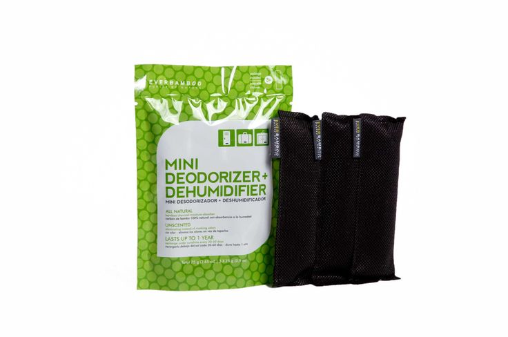 Mini Deodorizer   Dehumidifier (3-Pack, 3 x 25 g) from Ever Bamboo