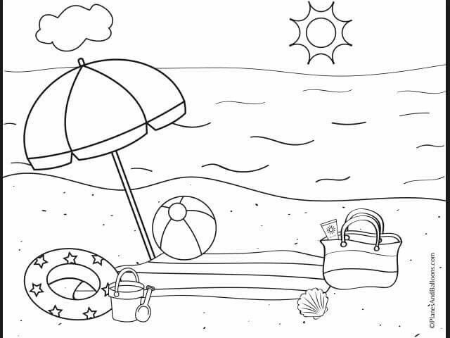 Pin By Hoopla Celebrations On Wakacje Summer Coloring Pages Beach Coloring Pages Summer Coloring Sheets