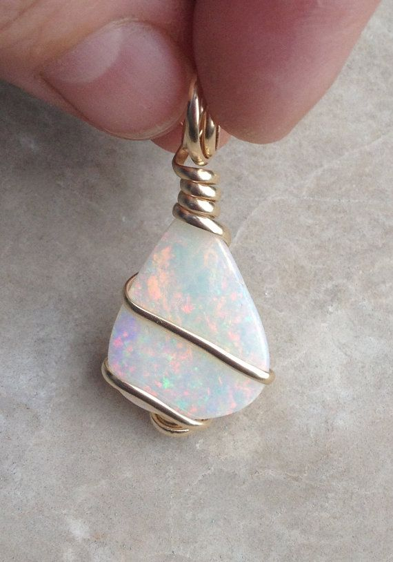 Genuine Opal and Natural Stone Jewelry by OpalEmbers on Etsy