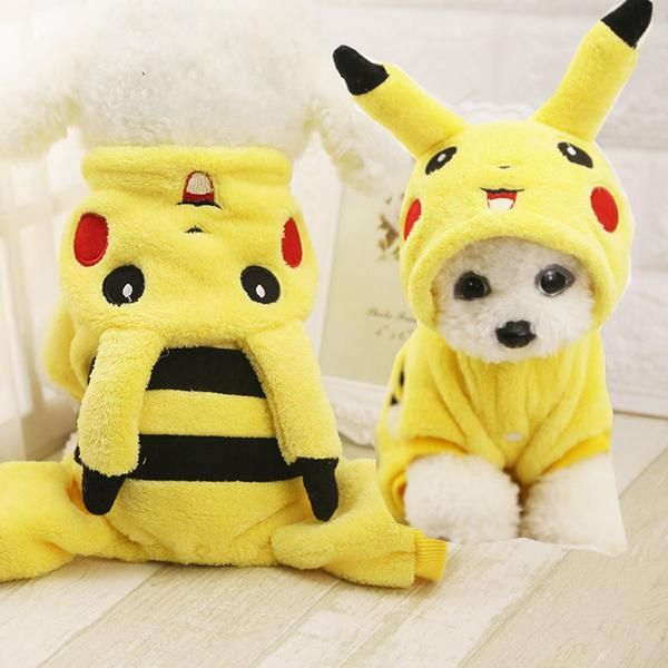 We're getting ready for Halloween early this year! Get a great Pikachu costume for your dog either for Halloween or just for fun!