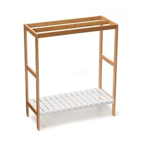 Tower Rail with Bamboo Frame - Brown