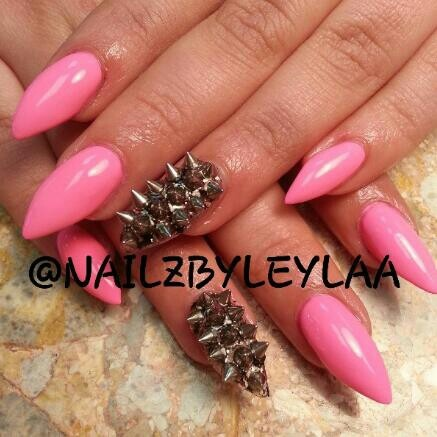 Nail Art Designs Stiletto Nails Acrylic Spikes Not A