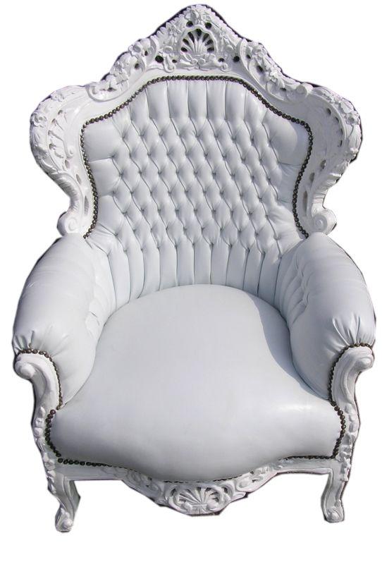 barok-koningsfauteuil-wit-wit-pu-leer