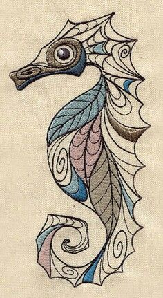 Seahorse Embroidery Pic Only no link