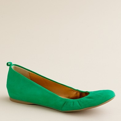 Love the Suede Cece Flat - just got them in oasis green - also have them in olive moss and black!