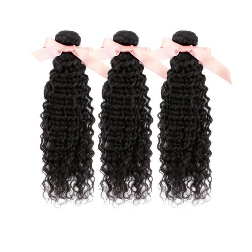 Deep Curly Malaysian Virgin Remy Hair Extensions 12 Inch to 32 Inch Natural Black 300g $144.00