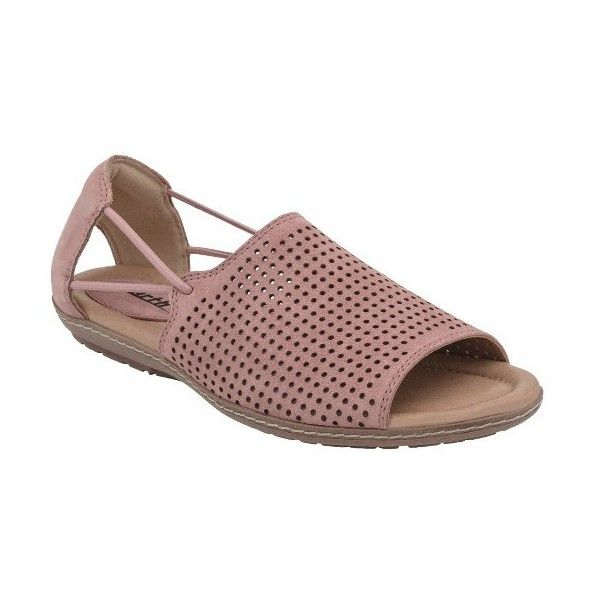 Women's Earth Shelly Sandal (125 CAD) ❤ liked on Polyvore featuring shoes, sandals, dusty rose soft buck, earth footwear, open toe sandals, earth shoes, earth sandals and open toe shoes