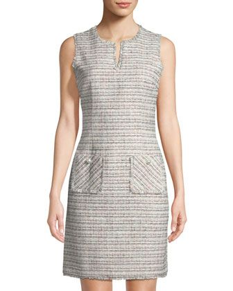 a2d4955668b Sleeveless+Tweed+Shift+Dres+by+Karl+Lagerfeld+Paris+at+Neiman+Marcus+Last+ Call.