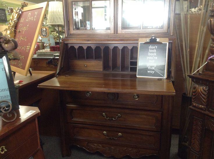 Desks, Hoosier Cabinet And Antique Secretary Desks