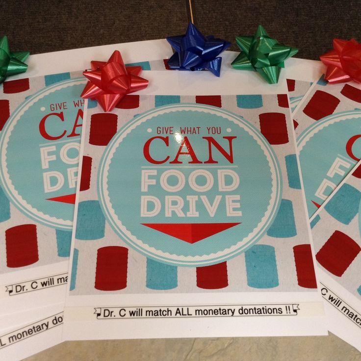 christmas food drive poster - photo #29