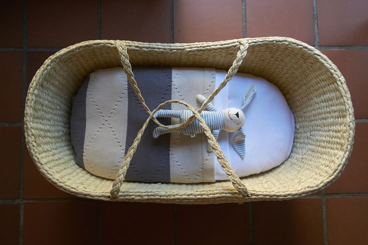 Moses basket for little one to sleep soundly and organic bedding for the softest touch.