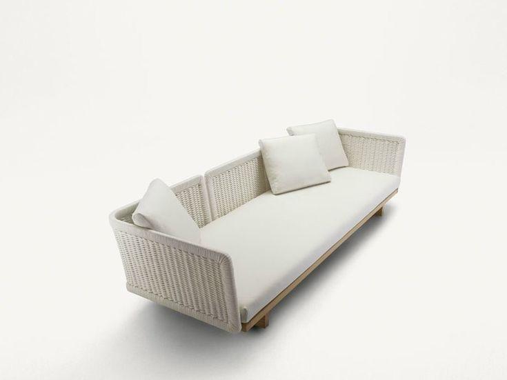 3 Seater Garden Sofa Sabi Collection By Paola Lenti Design ... Mobel Kollektion Rattan Garten Design