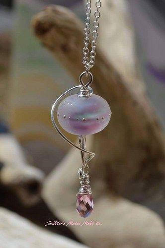 Flamingo Pond Rounds Handmade Glass Lampwork Beads SRA