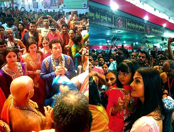 Aishwarya Rai Bachchan whisks away daughter Aaradhya for Ganpati Darshan in the city – view pics #FansnStars