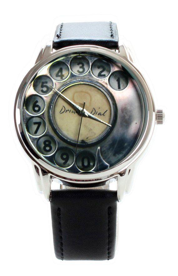 Reloj teléfono nostálgico - teléfono antiguo antiguo reloj de pulsera