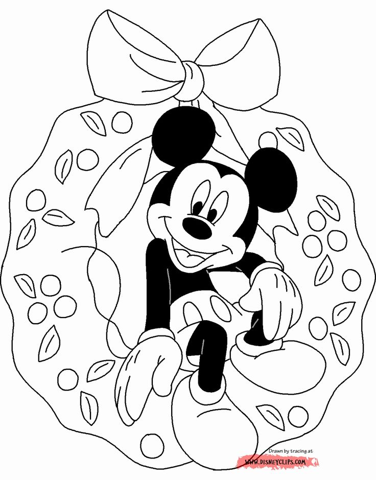 Amazing Thanksgiving Mickey Mouse Christmas Coloring Pages