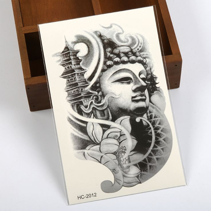 Tahan-air-batu-trendi-miniatur-bunga-teratai-buddha-stiker-tubuh-Kilat-tattoo-stiker-tato-temporer-Harajuku.jpg (800×800)