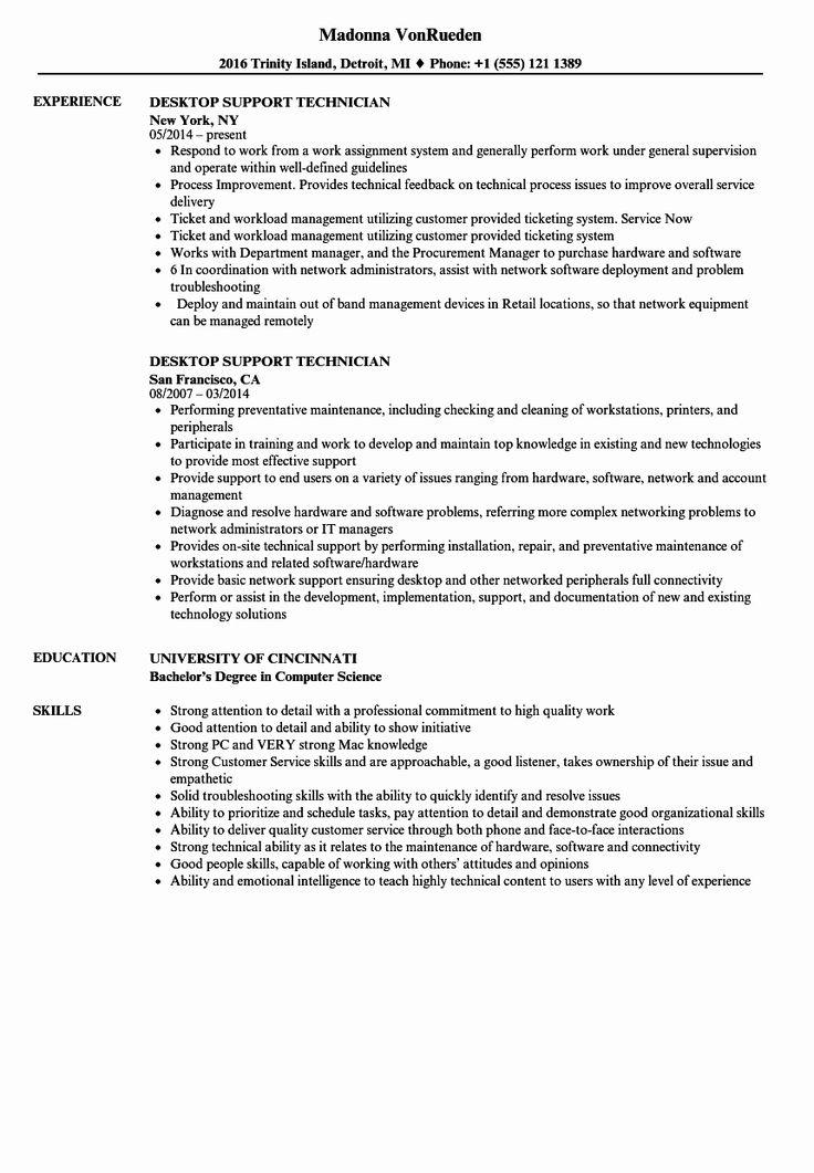 Computer Technician Job Description Resume Awesome Desktop