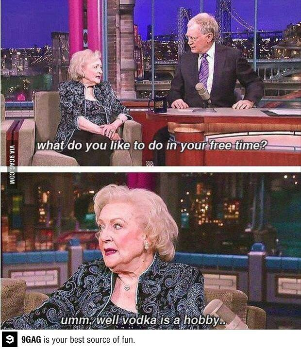 Betty White's hobby